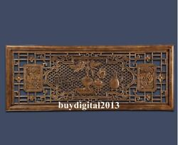 China Camphorwood Auspicious Wealth Quiet Wall Hanging Wood Tablet Plaque Board
