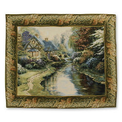Serenity I Art Wall Hanging Vintage Tapestry 43quot;x36quot;
