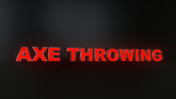 11pc Axe Throwing Led Black Sides Storefront Signready To Install