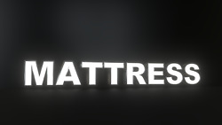 8pc Mattress Led Black Side Panels, Storefront Sign, Complete And Ready To Install