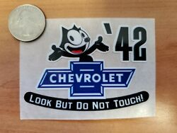 And03942 Felix The Cat Chevrolet Look But Do Not Touch Inside The Glass Die Cut Decal