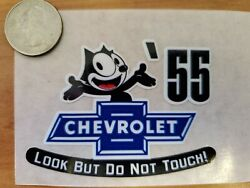 And03955 Felix The Cat Chevrolet Look But Do Not Touch Inside The Glass Die Cut Decal