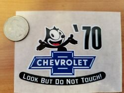 And03970 Felix The Cat Chevrolet Look But Do Not Touch Inside The Glass Die Cut Decal
