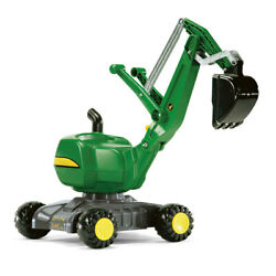 John Deere 102cm Rolly Xl Kids Ride On Digger Toy Excavator/tractor Vehicle Grn