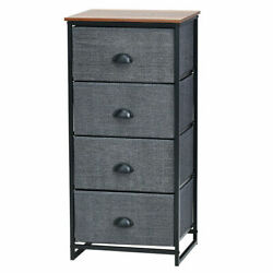 4 Drawers Dresser Chest Storage Tower Side Table Display Home Furniture Bl