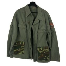 Patched East German Ddr Army Jacket Customized Lizard Camo Pockets