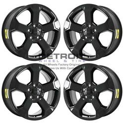 20 Jeep Grand Cherokee Gloss Black Wheels Rims Factory Oem 9211 2011-2020 Set