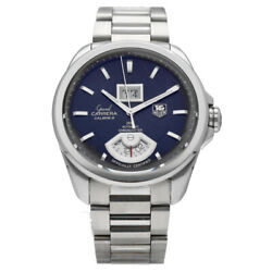 Tag Heuer Grand Carrera Calibre 8 Gmt Wav5111 Black Dial Automatic Menand039s Watch