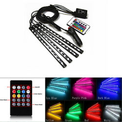 12led 7 Colors Neon Light Car Interior Footwell Decor Atmosphere Wireless Remote
