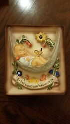 Hummel 5 1/4h X 4 1/2w Swaying Lullaby Plaque Mint