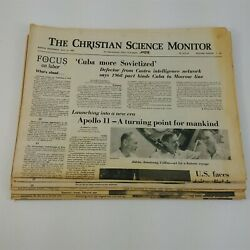 Christian Science Monitor Vintage Newspaper Lot Western Ed. Apollo Space Moon