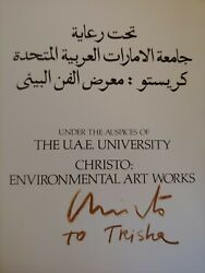 Christo And Jeanne-claude Hand Signed Book Christo Environmental Art