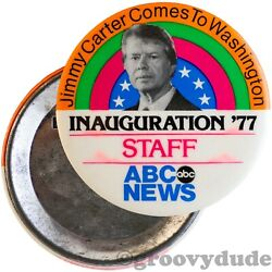 Staff 1977 Abc News President Carter Inauguration And03977 Dc Pin Pinback Button