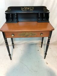 Hitchcock Chair Chairs Co Black/harvest Cubby Hole Desk