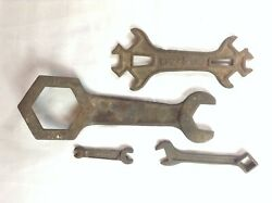 Lot 4 Tractor Implement Boiler Antique Wrench Lot Includes Oliver Cp245 Enfield