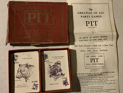 Vintage Waddington's Pit Card Game Bull And Bear 1904 Edition, Complete Antique