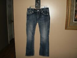 EXTRA NICE LADY'S ROCK REVIVAL BOOT FLAP DESIGN POCKETS LIGHT WASH JEANS 3032