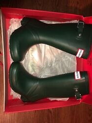 Hunter green boots US 12boy 13girl UK size 11 Brand New in box