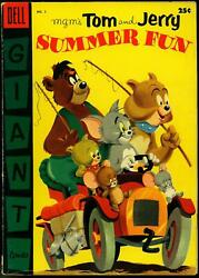 Tom And Jerry Summer Fun 2 1955 - Dell -g/vg - Comic Book