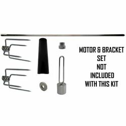 Onegrill 4ps12 Universal Grill Rotisserie Kit No Motor And Bracket - 37 X 5/16
