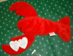 Ty Beanie Baby 1993 Pinchers The Lobster Many Errors P.v.c. Retired