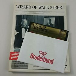 Wizard Of Wall Street Synapse Floppy Disk 5 1/4 Vintage Computer Game