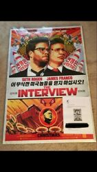 The Interview Official 27 X 40 Christmas Movie Poster Cyber Attack And Sony Letter
