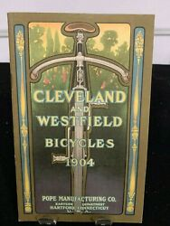 Rare Vintage Mint 1904 Cleveland And Westfield Bicycles Catalog Pope Mfg