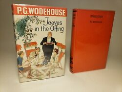 1960 P.g. Wodehouse 'jeeves In The Offing' And 'spring Fever' 1st Eng Ed London