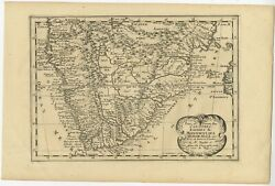 Antique Map Of South Africa By De Winter C.1680