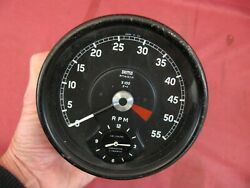 Smiths Jaguar Series 1 Xke Early Tachometer Revcounter With Clock Rv7413/10