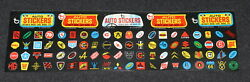 Topps 1970 Non-sports Cards Way Out Wheels Stickers Uncut Evel Knievel 1974 X5 D