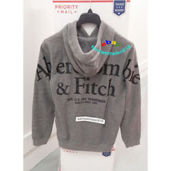 Abercrombie And Fitch Mens Back Logo Hoodie Sweatshirts Heather Grey Size M,xl
