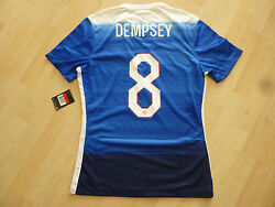 Nwt Rare Nike 2015 Usa 8 Clint Dempsey Authentic Player Issued Blue Jersey Large