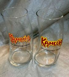 Kahlua Curved Glasses Set Of Two 2 The Everyday Exotic Liquor Glass 20 Oz. Ea