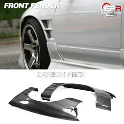 For Nissan 180sx Bn Style Carbon Wide +25mm Front Fender Vents Mudguards Kits