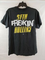 WWE SETH FREAKIN ROLLINS T SHIRT BLACK MENS SIZE MEDIUM