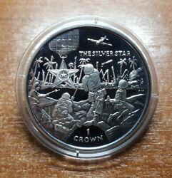 Isle Of Man 1 Crown 2005 The Silver Star War Plain Medal Silver Proof