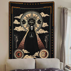 USA Gothic Sun Skull Tapestry Wall Hanging Mandala Tapestry Bedspread Home Decor