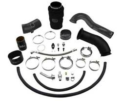 Wc Fab S300 High Mnt Turbo 2nd Gen Swap Kit For 10-12 Cummins 6.7l Gloss Blac