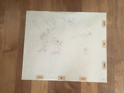 Disney ,mickey Mouse , Goofy, Production Cel Pencil Drawing 1970's