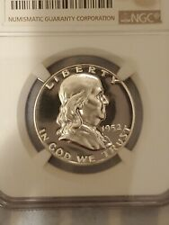 1952 Proof Franklin Half Dollar Graded By Ngc In Pf67+