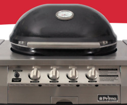 Primo Oval Built-in Gas Kamado Grill, Ceramic Easy To Use Best Kamado