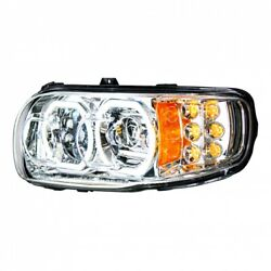 Led Headlight With Turn Signal And Dual Color Position Light Bar For 2008+ Peterbi
