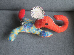 Cute Cloth Elephant From V And A Gift Shop Ex Shop Stock Unused