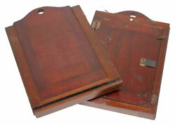 Large Format Antique Wood Stereo Camera Sheet Film Plate Holders