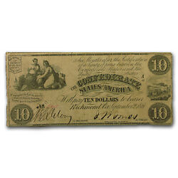 1861 Csa 10 T-28 Ceres And Commerce W/urn Vf - Sku 52709