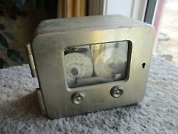 Old Yale And Towne 2 Movement Time Lock Bank Vault Safe All Metal Case Works Fine