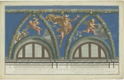 Antique Print Of Mercury Descending To Earth Made After Raphael 1693