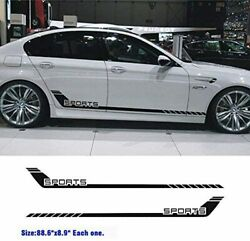 Cars 1pair Car Racing Door Side Stripe Kit Sports Lower Vinly Decal For All Cars